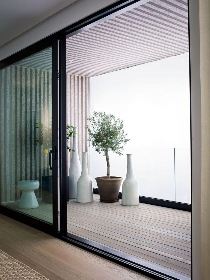 Oscar Properties: Norra Tornen Balcony, windows, pots, design, interior, big windows, view #oscarproperties