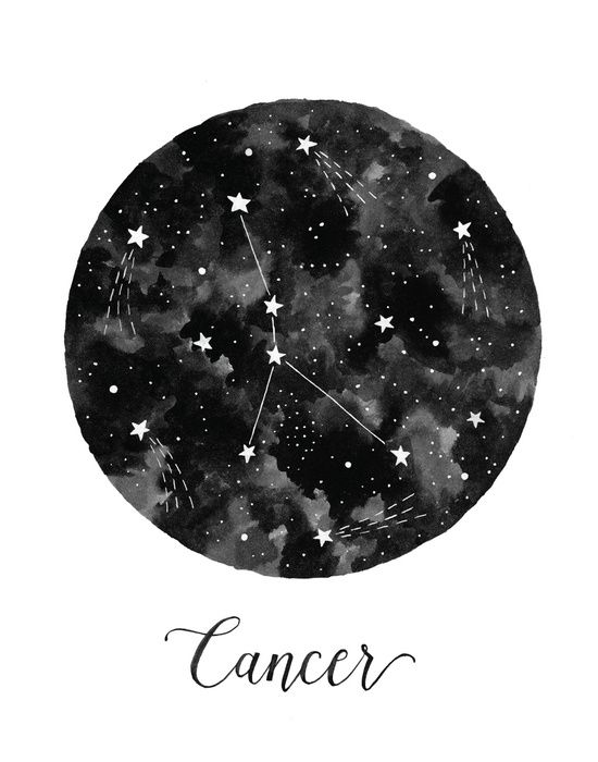 Cancer Constellation Art Print