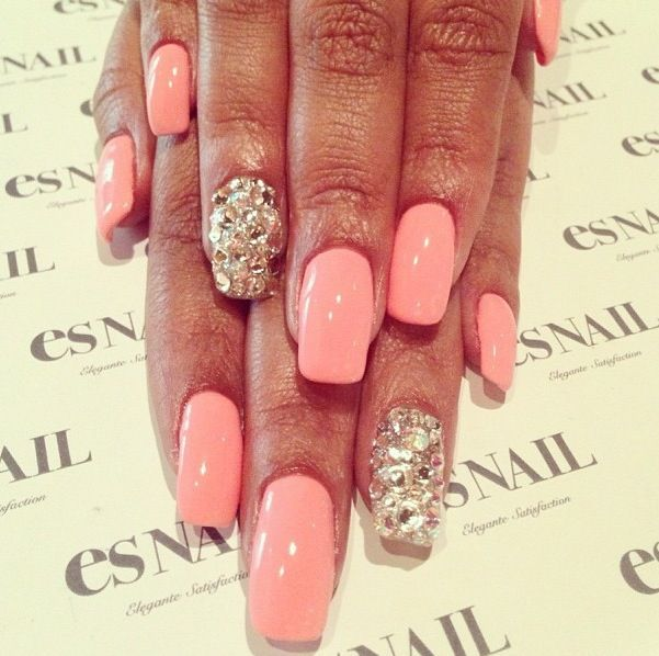 1000 Images About Nail Designs On Pinterest Nail Art Accent Nails And  Pedicures. diamond nail art - Nail Designs With Diamonds. Diamond Studded And Beautiful It Takes