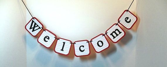 WELCOME banner/ back to school/ school days/ teacher gift/ classroom decor/ school banner garland