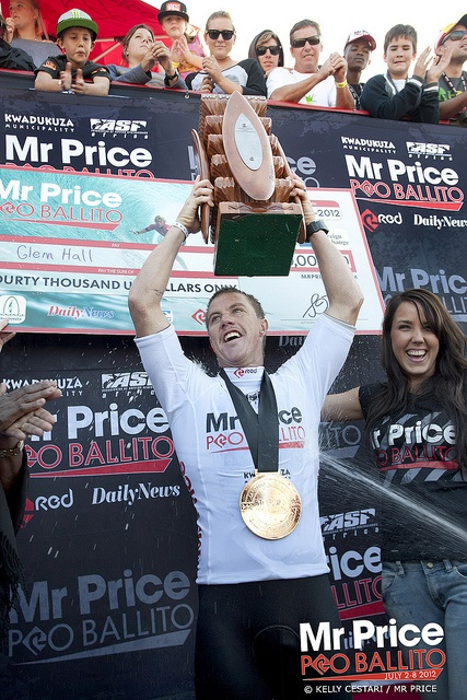 Mr Price Pro Ballito 2012 champion Glen Hall (Ireland). © Kelly Cestari / Mr Price. © Kelly Cestari / Mr Price