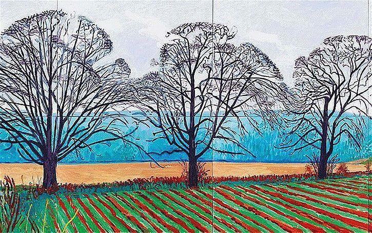 """""""Три дерева недалеко от Тиксендэйла, зима 2007""""  Дэвид Хокни (англ. David Hockney, р. 1937) - современный британский, американский художник, теоретик искусства. Биография, картины: http://contemporary-artists.ru/David_Hockney.html"""