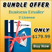 Send Unlimited number of emails through business emailer software.