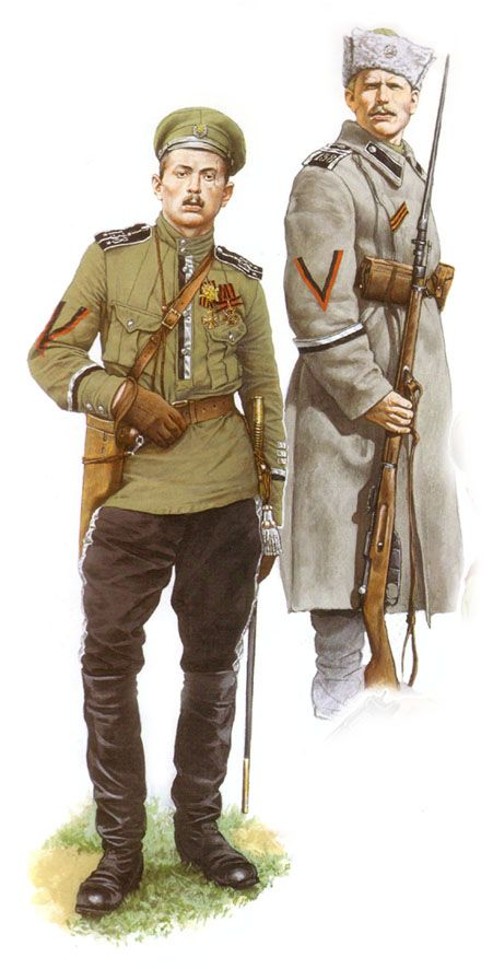 Esercito Imperiale Russo - REVOLUTIONARY SHOCK TROOPS IN THE RUSSIAN ARMY in 1917 lieutenant and junior non-commissioned officer of the battalion died 138th Infantry Division. 1917