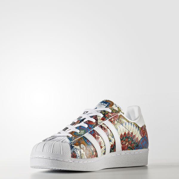 adidas superstar speckle blanche et rose