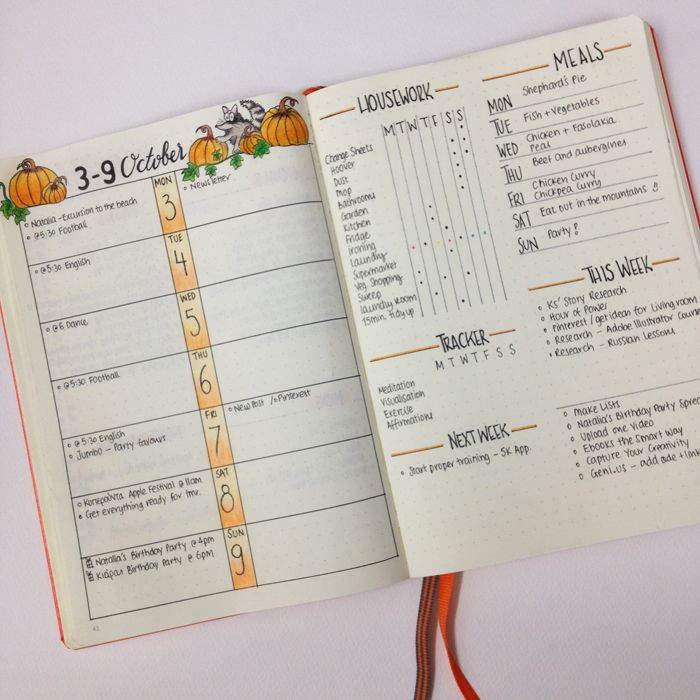 This is how I set up my Bullet Journal for October. Keeping things simple and minimal this month.