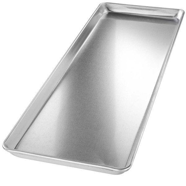 "Chicago Metallic 40922 Non-Textured 9"" x 26"" Customizable Bakery Display Tray"