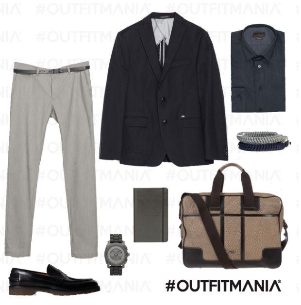 Working man   Essenziale ed elegante l'uomo che lavora...   #outfitmania #outfit#style #fashion #dresscode #amazing #minimal #giacca #zara #job #man #orologio #agenda #thebridge #borsa #camicia   CLICCA SULLA FOTO PER SCOPRIRE L'OUTFIT E COME ACQUISTARLO
