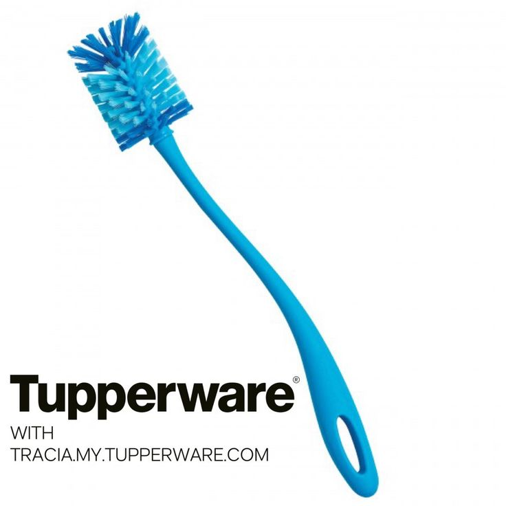 TUPPERWARE ECO WATER BOTTLE BRUSH - Fits all Animal and Eco Water Bottles. Uses soft and hard bristles for optimum cleaning of multiple surfaces. #Tupperware #Kitchen #Food