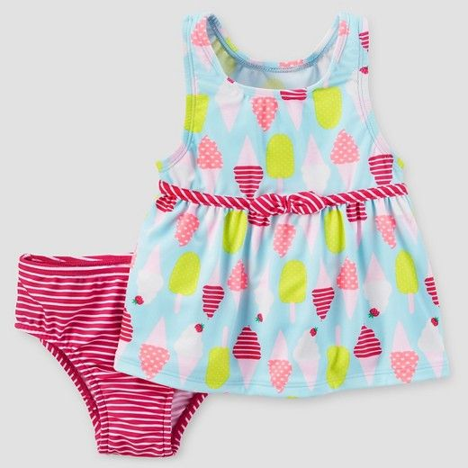 Baby Girls' 2pc Ice Cream Tankini Set - Just One You™ Made by Carter's® Pink