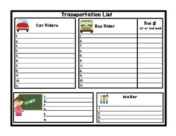 Keep track off how each of your students are getting home with this FREE Transportation List. If you like this product , please leave a feedback for me! Just print in gray scale or color.Hope you enjoy! FREE OINK!