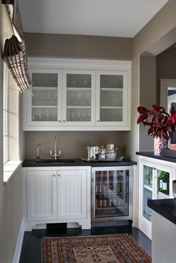 Bar Area In Basement Can Accommodate Everything Needed For Various Drinks,  Especially With A Small Sink, Refrigerator And Storage For Mixers Nearby.