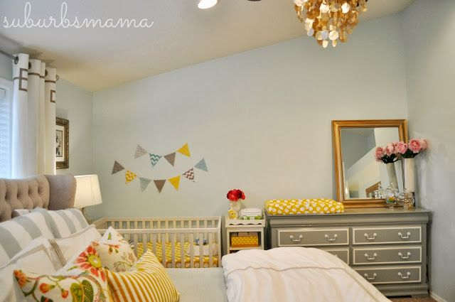 Suburbs Mama Nursery In Master Bedroom Baby Nursery Solutions For Small Flats Pinterest