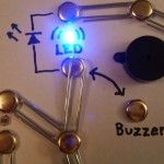 Build a simple circuit from a pizza box with no soldering.