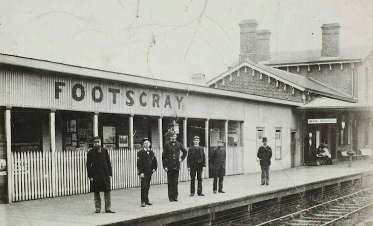 The Footscray Railway Station, 1890's.