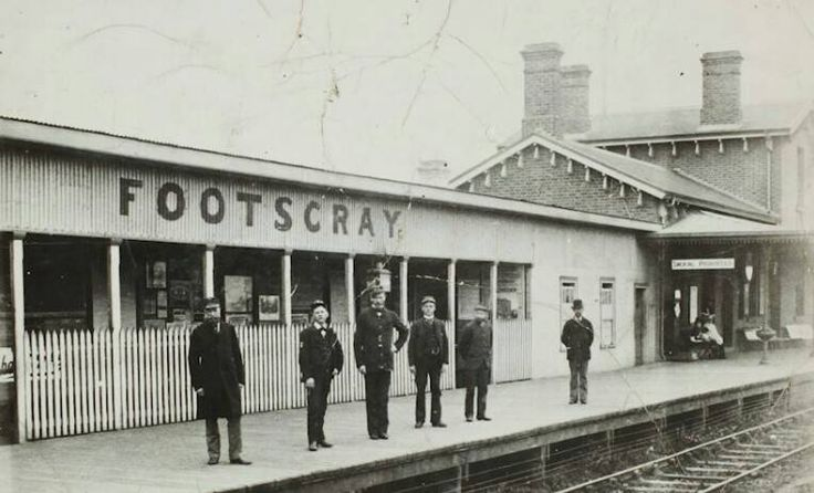 The Footscray Railway Station, 1890's.
