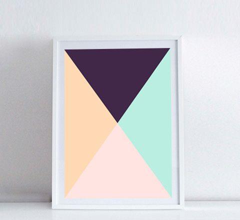 Pastel triangles / Print, theminimalist.com.au