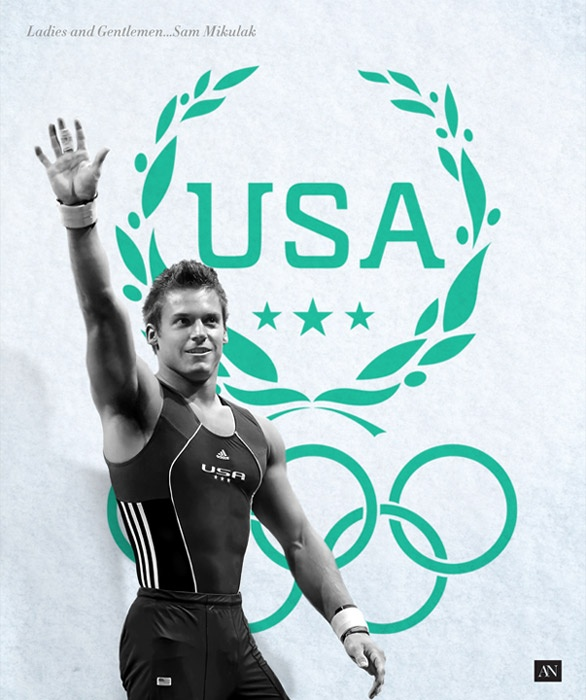 Olympic Laurel Wreath :: Ladies and Gentlemen...Sam Mikulak. And the roof top blown out by the earth shattering applause.