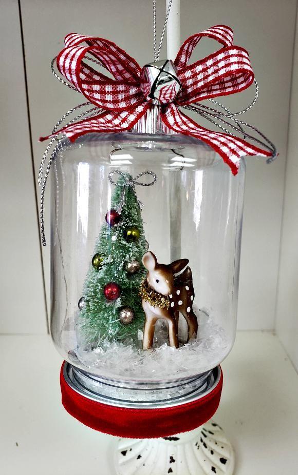 Mason Jar Christmas Snow Globe Christmas Jars Christmas Mason Jars Christmas Snow Globes