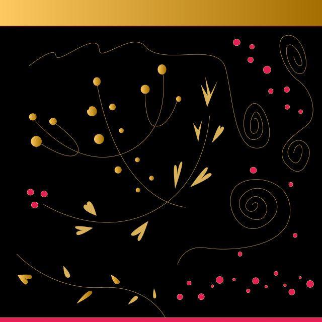 'Amazing hand-drawn Folk pattern BLACKGOLD' on Picfair.com