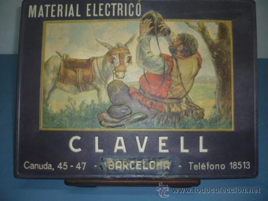 DISPLAY DE CARTON TAMAÑO 300X400 MATERIAL ELECTRICO CLAVELL MOTIVO DEL QUIJOTE
