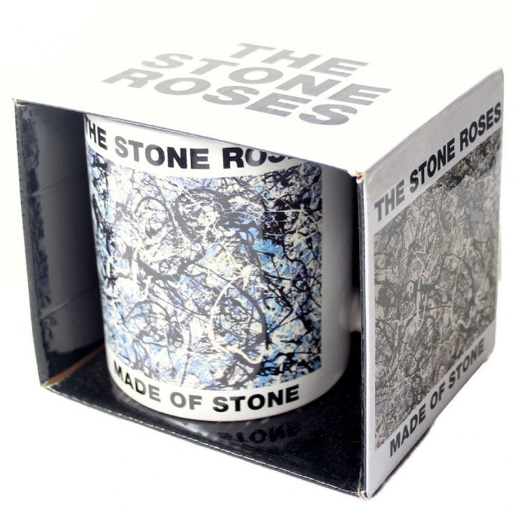 The Stone Roses Official boxed ceramic White mug featuring the Made of Stone design Bravado Rock Off Officially Licensed Merchandise See all The