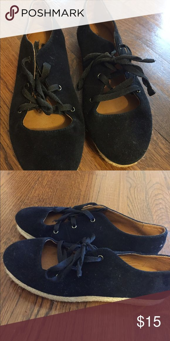 Black madewell lace up loafers Black and Tan madewell loafers Madewell Shoes Flats & Loafers