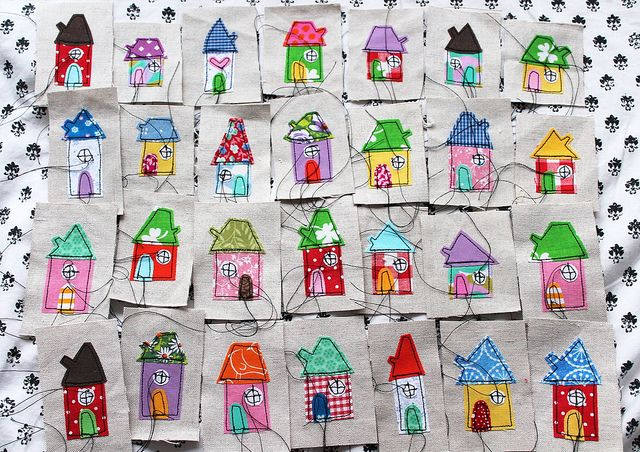 These houses make me happy!
