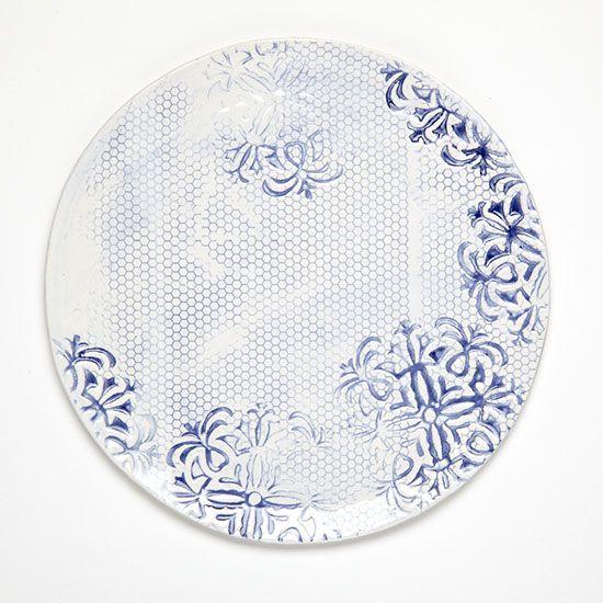 "Food & Wine Magazine's Plate Project: John Robshaw's contribution ""Indigo Honeycomb"""