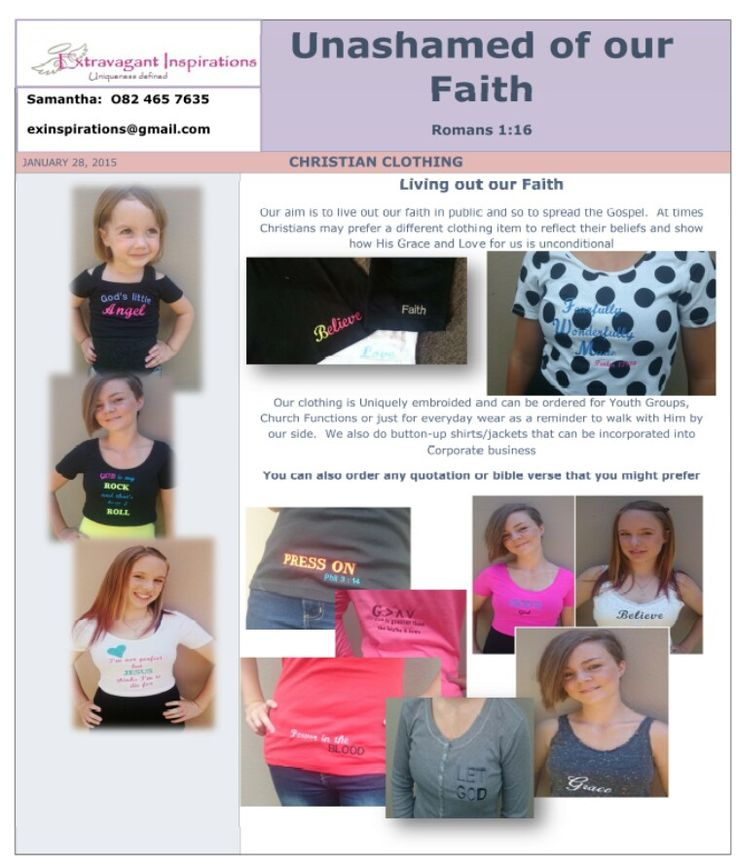 Christian Clothing ... embroidery