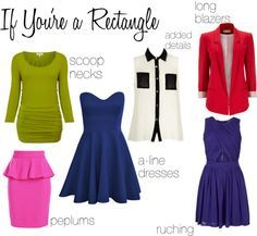 How to Dress Your Body - rectangle shape