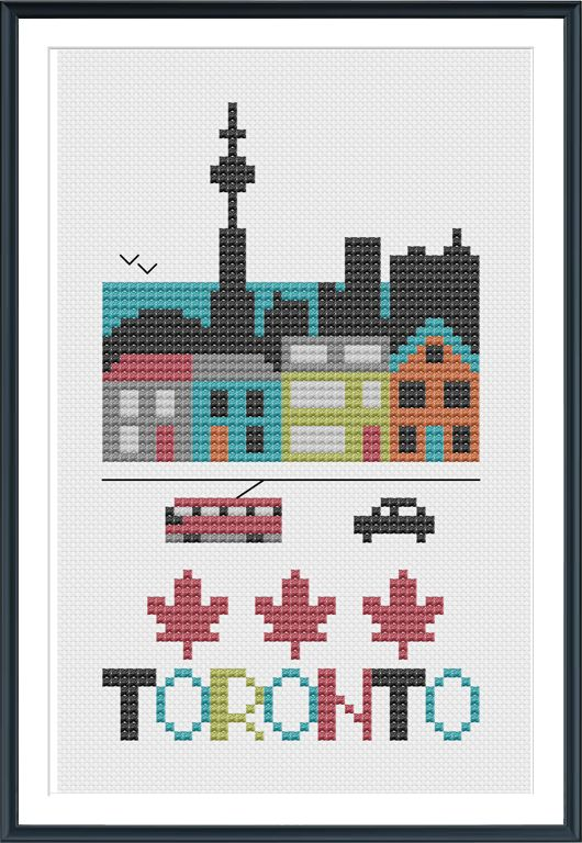 Toronto Cross Stitch Chart Instant Download