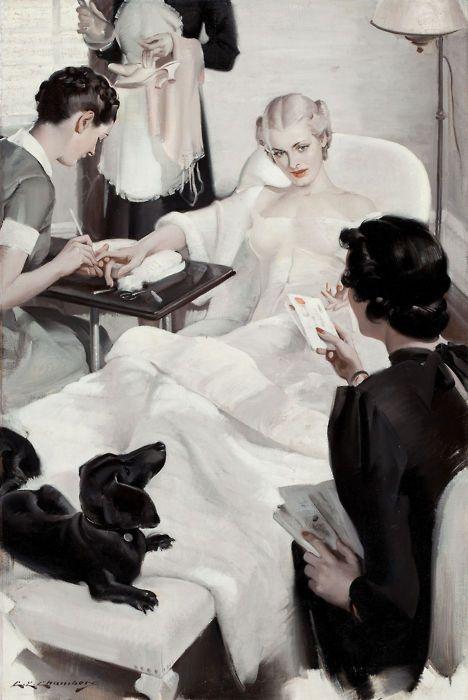 pamperingArt Charles, Vintage Illustration, Edward Chamber, 20Th Century, Beautiful Salons, Charles Edward, Art Magazines, 18831941, Vintage Art