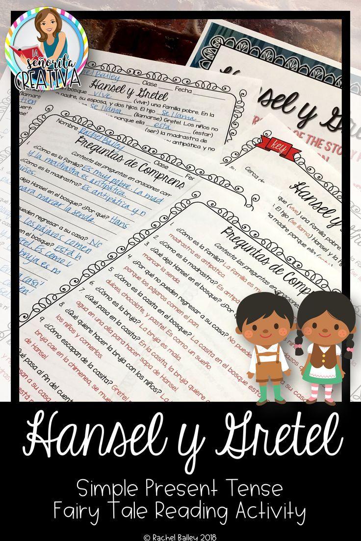 Present Tense Story Worksheet Hansel Y Gretel Simple Present Tense Writing Activities Fairy Tale Activities [ 1104 x 736 Pixel ]