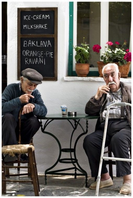 Greek men enjoy of their old day.