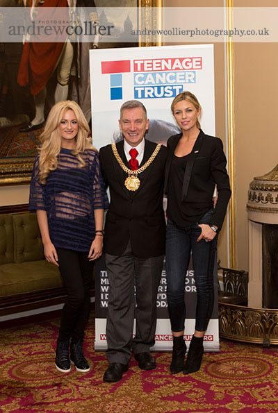 Abbey Clancy launches the Teenage Cancer trust's £500,000 Merseyside appeal.