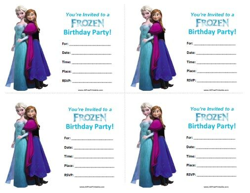 17 Best ideas about Free Frozen Invitations – Birth Invitation Card