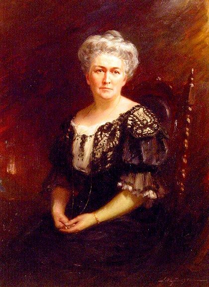A copy of this portrait hangs in the front hallway of the homestead.  Adelaide Hoodless, 1909  J.W.L. Forster Presented by the Women's Institutes of Ontario, 1912 University of Guelph,  Macdonald Stewart Art Centre