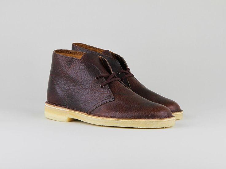 Clarks Desert Boots Cuir Rouille