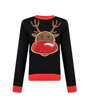 Reindeer Christmas Jumper, Ladies