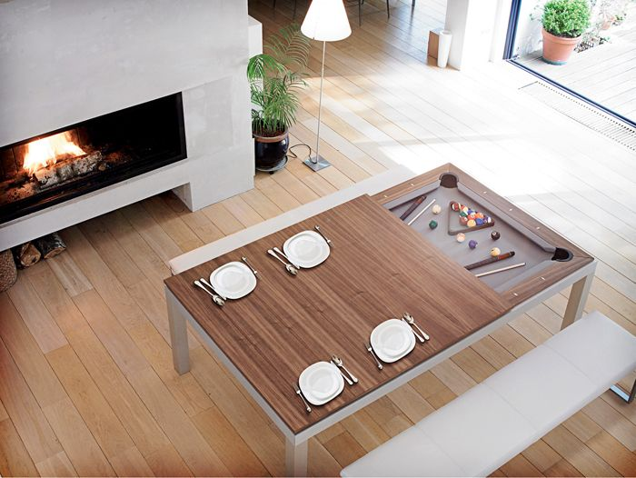 Lovely Fusion Table U2013 Part Dining Table Part Pool Table, These Stylish  Transformers Are The Brainchild Photo