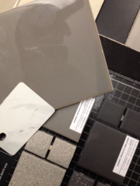 Shower tile and countertops for ensuite