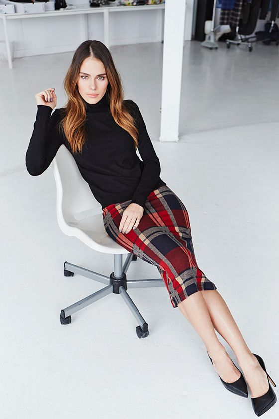 Fashion 365 days of looks: Maripier Morin - Louloumagazine.com - Plaid Skirt
