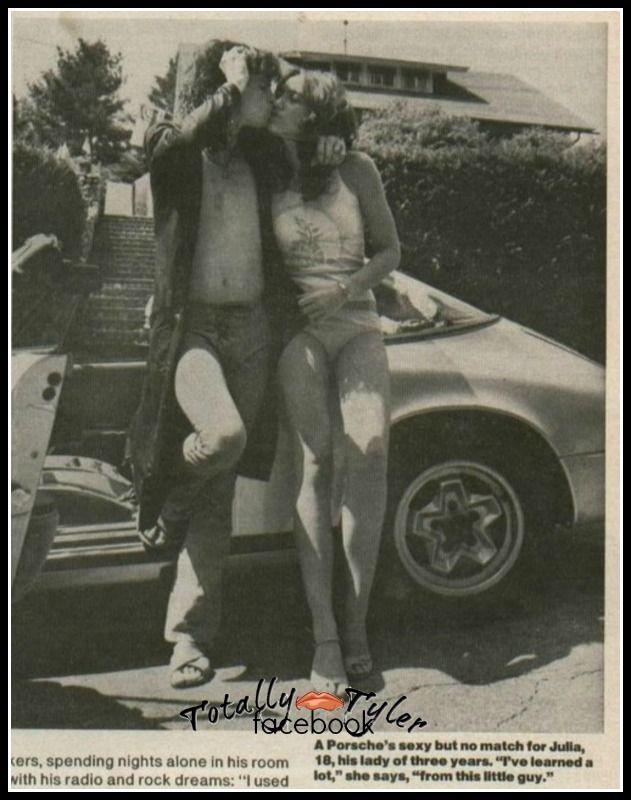 STEVEN TYLER WITH GIRLFRIEND JULIA