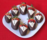Tuxedo Strawberries Recipe - How to Make Tuxedo Strawberries - Valentine's Day Candy Recipes