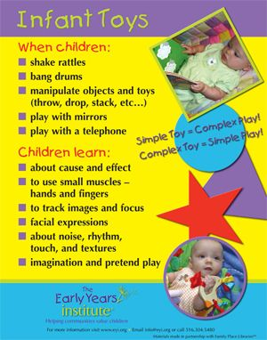 Infant Toys Poster. For more Play pins visit: http://pinterest.com/kinderooacademy/learning-through-play/ ≈ ≈