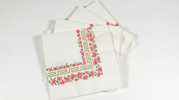 Midcentury Luncheon Wedding Shower Napkins  by OldThingsMakeMusic