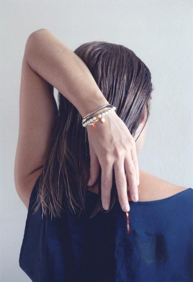 Bracciale TIBETANA oro 9kt, perle, citrino, filo cottone  A/I 2012