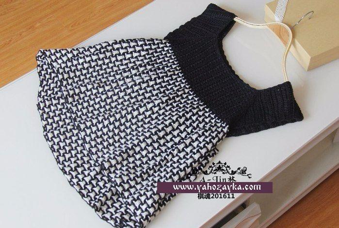 Ажурный чёрно-белый сарафан крючком. Летнее платье. мастер класс крючком