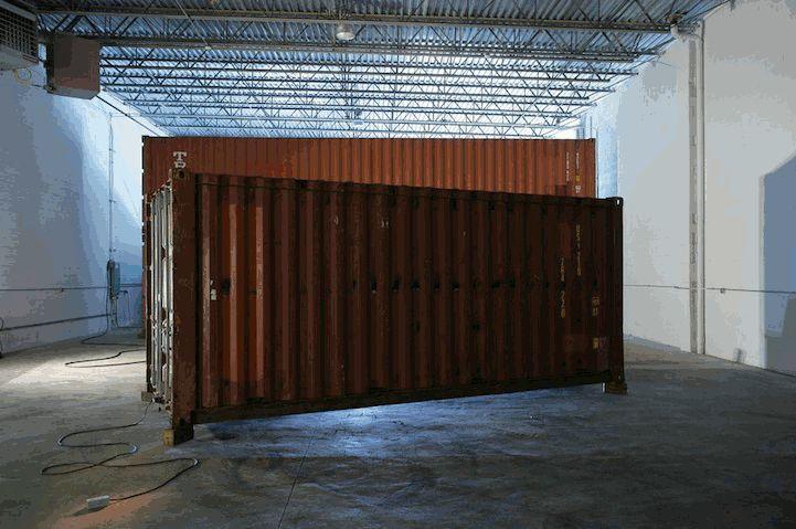 Shipping Crate Transforms into a Push Button Home - My Modern Metropolis